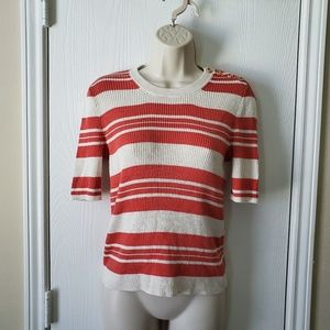 Madewell Ribbed Sweater Top Stripe